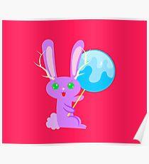 Lollipop Bunny Fantasy Poster