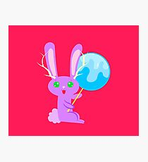 Lollipop Bunny Fantasy Photographic Print