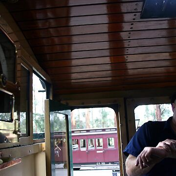 People / Transport - Old School Train Driver by boudidesign
