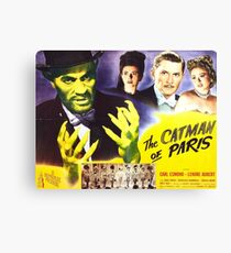 The Catman of Paris - Vintage Horror Movie theater Poster Canvas Print
