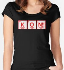 Anime Periodic Table Inspired Shirt Women's Fitted Scoop T-Shirt