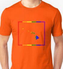 Hawaii Map Rainbow Pride Gifts Unisex T-Shirt