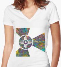 Wichita Flag - VI of X Women's Fitted V-Neck T-Shirt