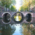 Receding bridges in Amsterdam by naranzaria