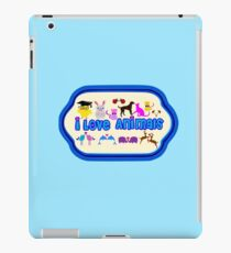 ❤↷I Love Animals-Animal Lovers↶❤ iPad Case/Skin