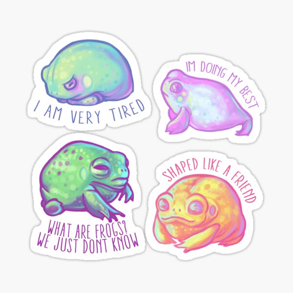 Frog Friends tiny sticker pack! Sticker