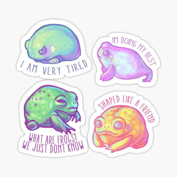 ¡Paquete de pegatinas pequeñas Frog Friends! Pegatina