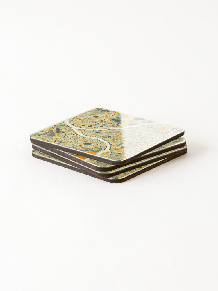 Alternate view of PITTSBURGH MAP Coasters (Set of 4)