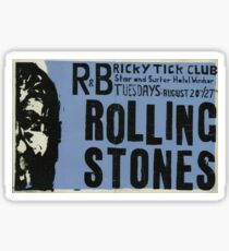 Vintage ROLLING STONES - Ricky Tick R&B club residency - [b] Sticker