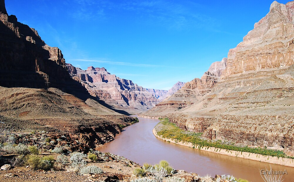 Colorado river in the Grand Canyon by GrahamA
