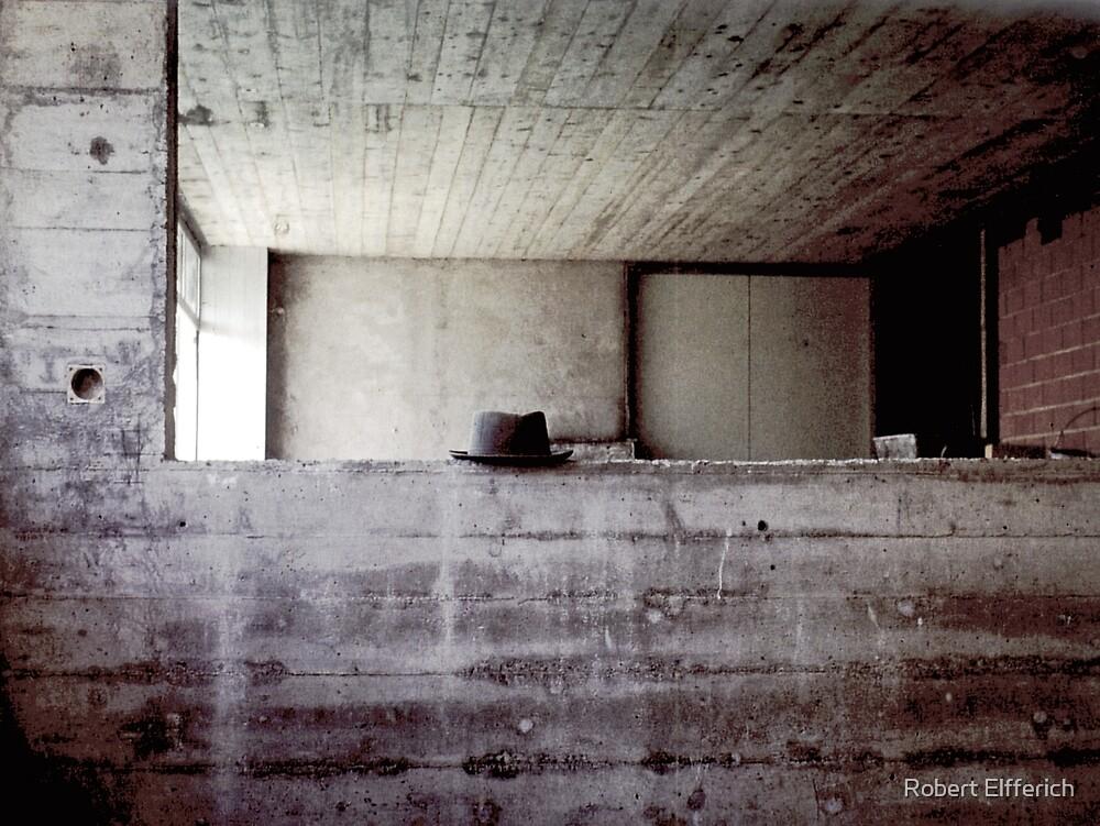 Hat during lunchbreak building photolab in Rotkreuz, Switserland 1968 by Robert Elfferich