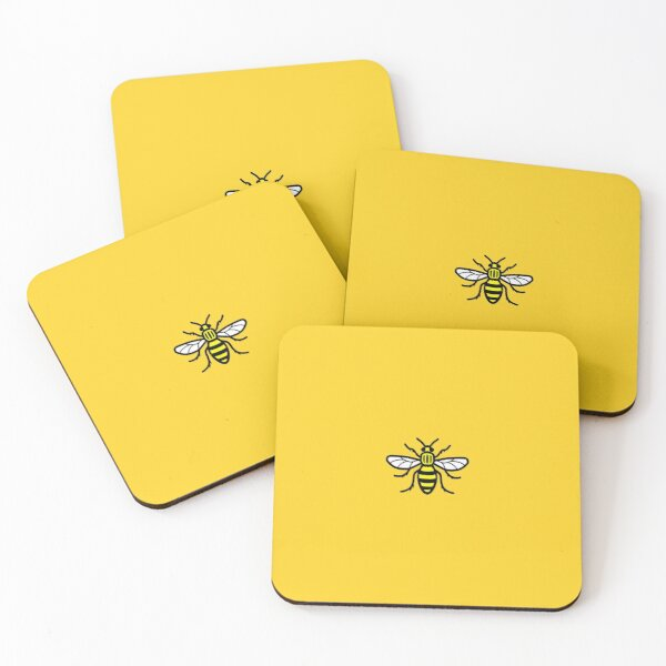 Manchester worker bee Coasters (Set of 4)