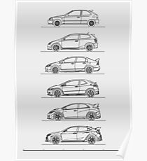 Minimal Civic Type R Evolution Poster