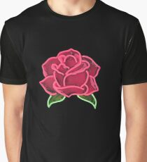Neon rose  Graphic T-Shirt