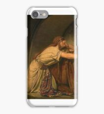 Sir Lawrence Alma-Tadema, O.M., R.A.  CLOTILDE AT THE TOMB OF HER GRANDCHILDREN iPhone Case/Skin