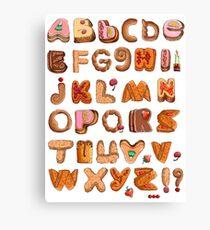 Sweet English Alphabet Font Canvas Print
