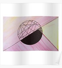 Triangle Ball on water colour Poster