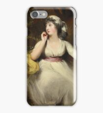 Sir Thomas Lawrence (Bristol, , London). Portrait of Miss Selina Pekvell, later Mrs. George Grote () iPhone Case/Skin