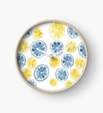 Watercolor citrus slice Clock