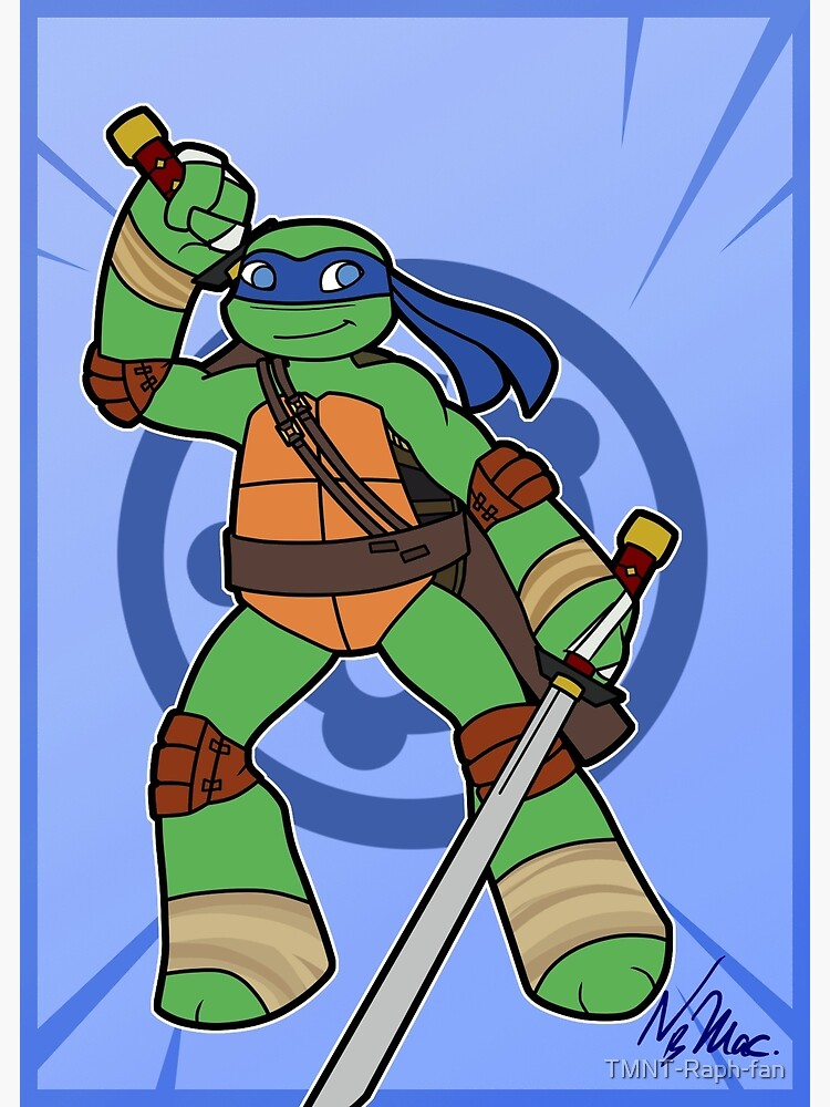 Tmnt 2012 Leo Greeting Card By Tmnt Raph Fan Redbubble