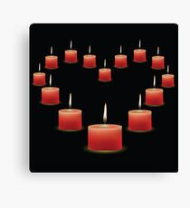 pink candles Canvas Print