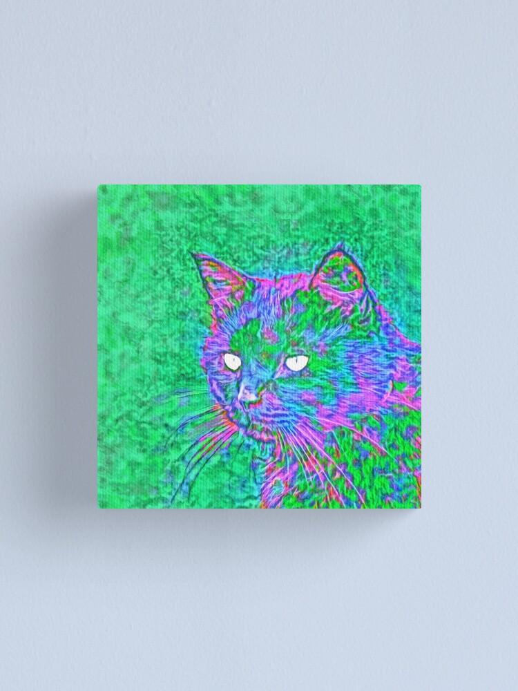Alternate view of Ninja Cat, Predator Canvas Print