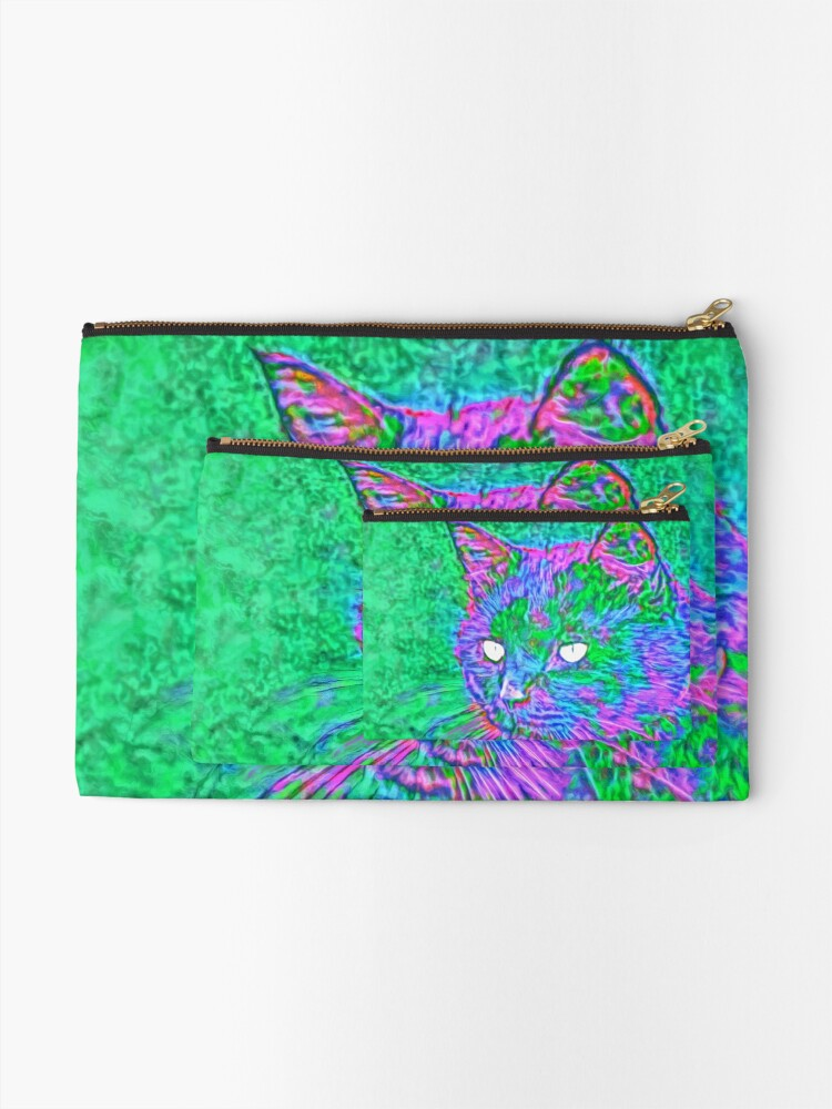 Alternate view of Ninja Cat, Predator Zipper Pouch