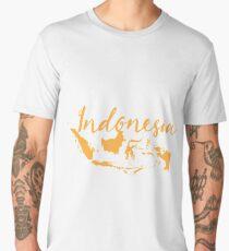 Indonesia with map Men's Premium T-Shirt