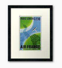 PARIS LONDON in 1h 30m AIR FRANCE Framed Print