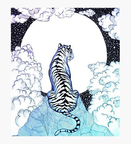 Ombre Tiger Moon Photographic Print