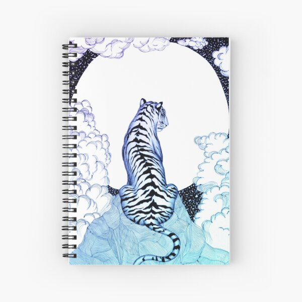 Ombre Tiger Moon Spiral Notebook