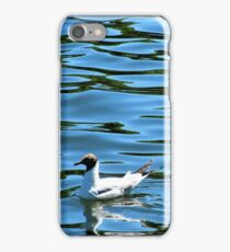 Bobbing Tern on blue water iPhone Case/Skin