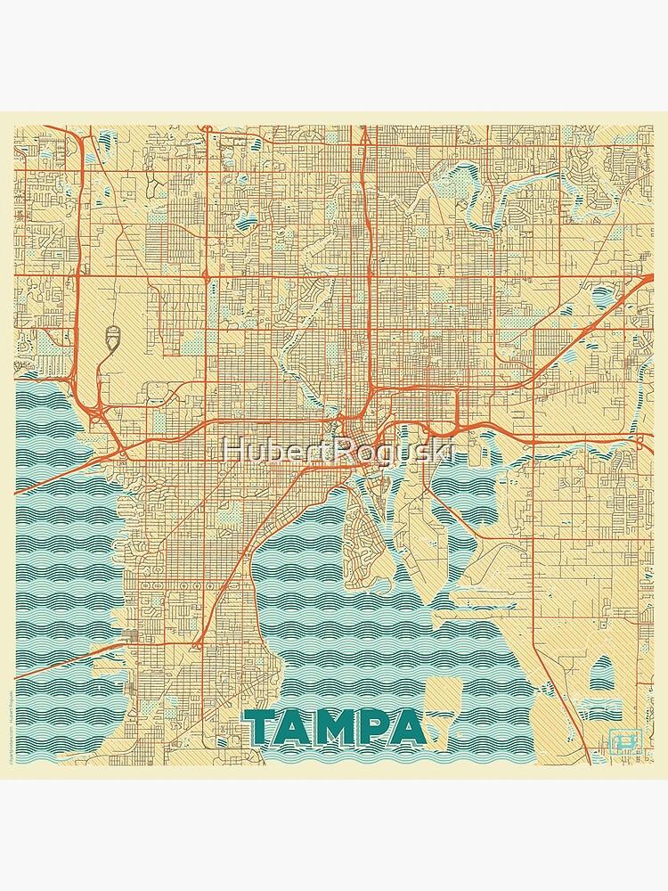 Tampa Map Retro by HubertRoguski