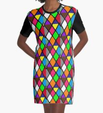 Stained Glass Window Design Graphic T-Shirt Dress