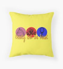 Beauty and the Beast (logo) Throw Pillow