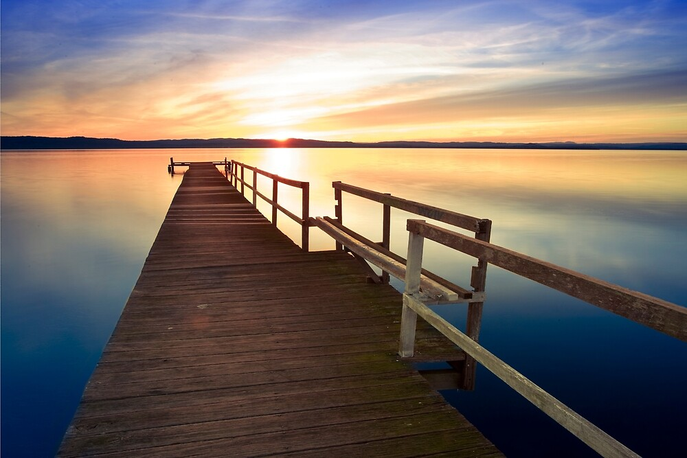 Long Jetty Sunset by rosswoodphoto
