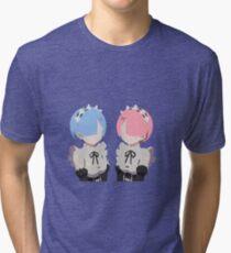 Minimalistic Rem and Ram Tri-blend T-Shirt