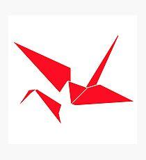 Origami Crane Abstract  Photographic Print