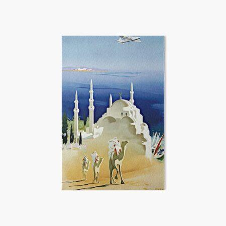 Air France Near East -  Vintage Travel Poster Art Board Print