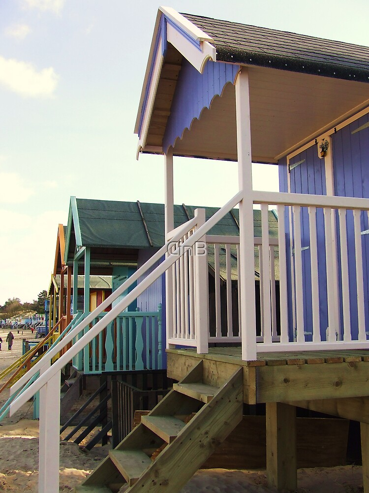 Beach Huts by CinB