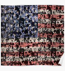 Elvis Presley pattern Poster