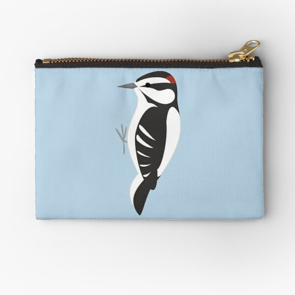 Downy Woodpecker Zipper Pouch