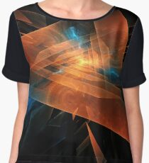 Triangular abstraction Chiffon Top