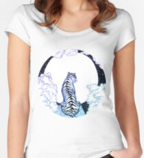 Ombre Tiger Moon Women's Fitted Scoop T-Shirt