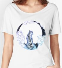 Ombre Tiger Moon Women's Relaxed Fit T-Shirt