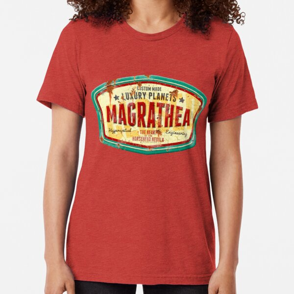 Magrathea - Custom Luxury Planets Tri-blend T-Shirt