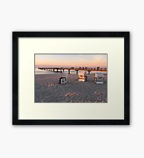 Prerow sunset Framed Print