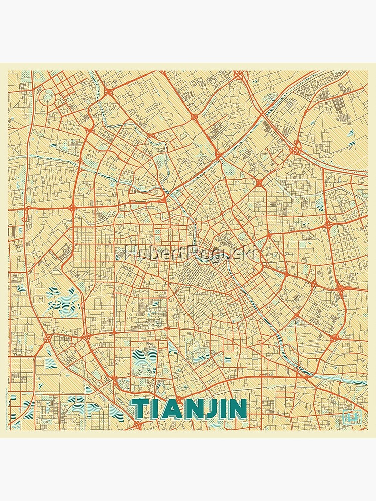 Tianjin Map Retro by HubertRoguski