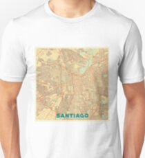 Santiago Map Retro Unisex T-Shirt
