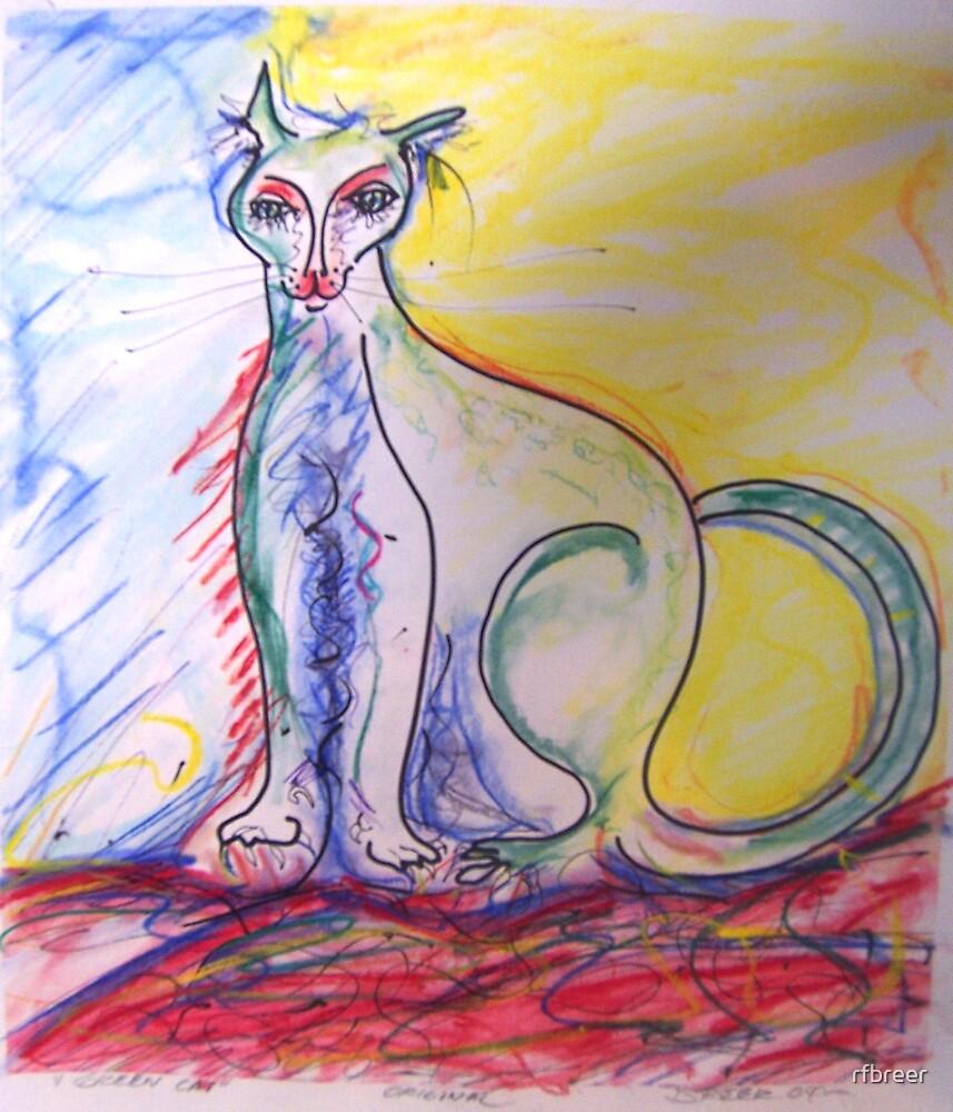 Green Cat by rfbreer